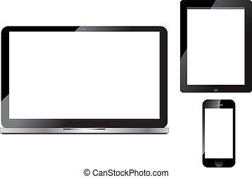 téléphone, ordinateur portable, tablette, intelligent