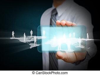 téléphone portable, communication