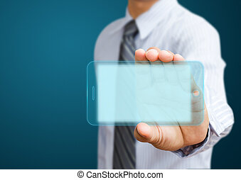 téléphone portable, hommes affaires