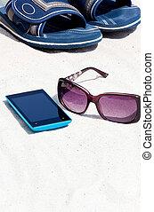 téléphone portable, plage