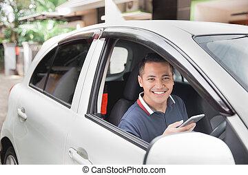 téléphone portable, quoique, conduite