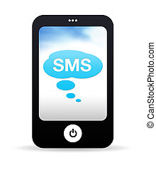 téléphone portable, sms