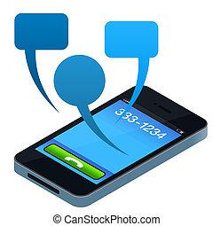 téléphone portable, social