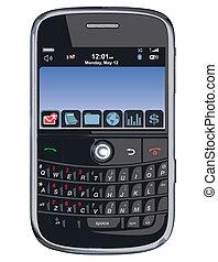 /, téléphone portable, vecteur, pda, /blackberry