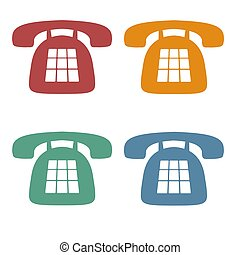 téléphone, retro, icônes