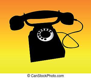téléphone, silhouette