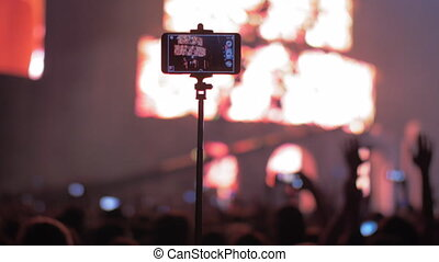 téléphone, tir, vidéo, concert, intelligent