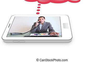 téléphone, vidéos, business, mobile