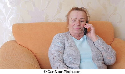 téléphoner femme, émotif, mûrir, conversation