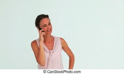 téléphoner femme, bien-habillé
