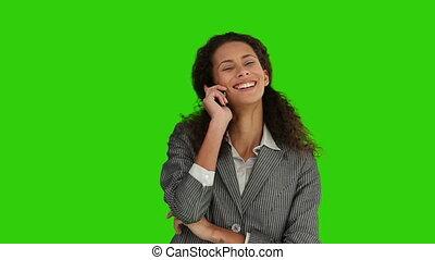 téléphoner femme, conversation, africaine