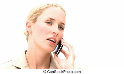 téléphoner femme, joli