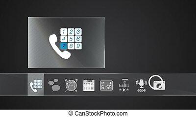 téléphonez icône, application, mobile