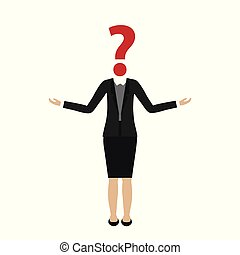 tête, affaires femme, question, caractère, marque