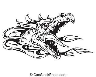 tête, dragon