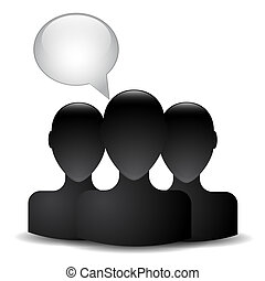 tête, silhouette, homme