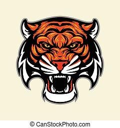 tête tigre, mascotte