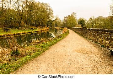 tôt, cromford, canal, matin