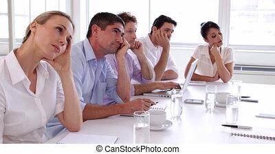 t, équipe, business, calibre, autour de, séance
