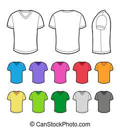 t-shirt, divers, colors.
