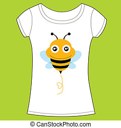 t-shirt, mignon, conception, bee.