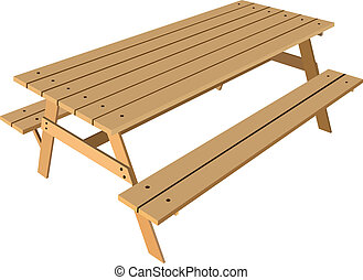 table, bancs, norme