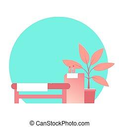 table., beauté, masage, salon