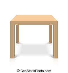 table bois, carrée