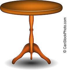 table bois, rond