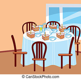 table, celebratory