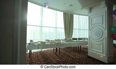 table, constitué, buffet, fête
