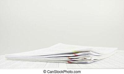 table, défaillance, paperasserie, pile, temps