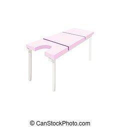 table, dessin animé, masage, icône