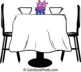 table, deux