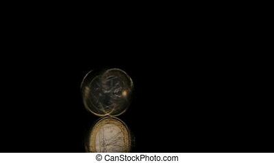 table, rotation, miroir, euro, une