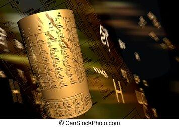table, symbole, périodique, atomique, élément