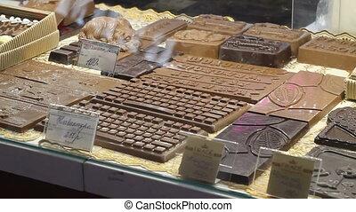 table, vacances, vente, chocolat
