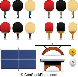 table, vecteur, ensemble, tennis