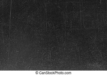 tableau noir, /, craie, noir, tableau, vide, traces, texture., vide