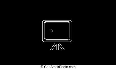 tableau noir, icône, mince, canal, alpha