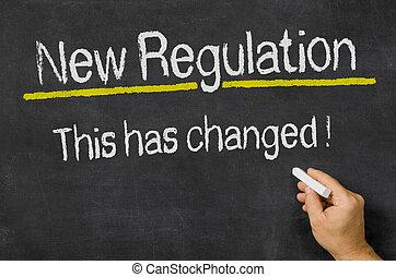 tableau noir, règlement, nouveau, texte