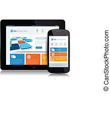 tablette, internet, smartphone