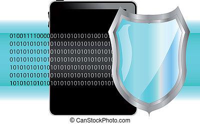 tablette, shield., pc