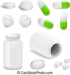 tablettes, pilules