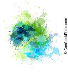 tache, multicolore