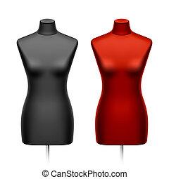 tailleurs, femme, factice, mannequin