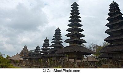 taman, indonésie, long, bali, pagodes, ayun, temple, rang