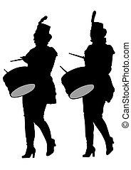 tambours bande, femmes