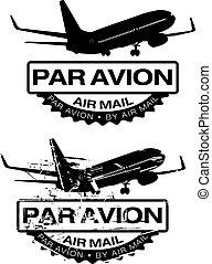 tampon, avion pair