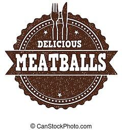 tampon, boulettes viande